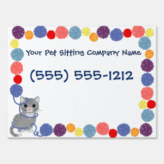 Design your own Yard Sign Pet Sitting Business