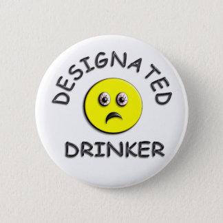 Designated Drinker - Yellow 2 Inch Round Button