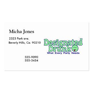 Designated Drunk Pack Of Standard Business Cards