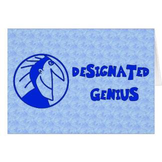Designated Genius Greeting Card