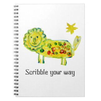 Designed by a Kid Scribble Your Way Notebook