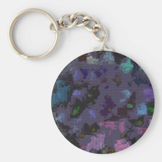 Designed Explosion #6 Basic Round Button Keychain