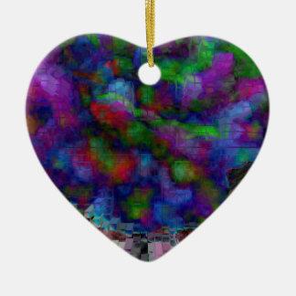 Designed Explosion #8 Ceramic Heart Ornament
