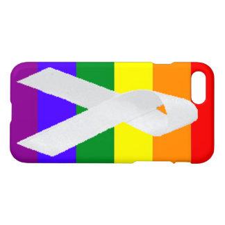 designed i phone 7 with rainbow and white ribbon iPhone 8/7 case