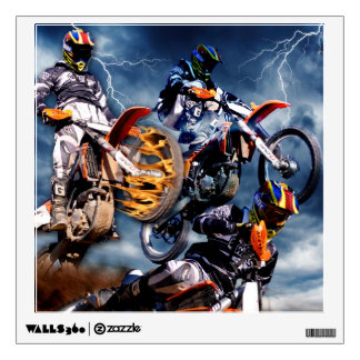 Designed motocross racing collage. wall decal