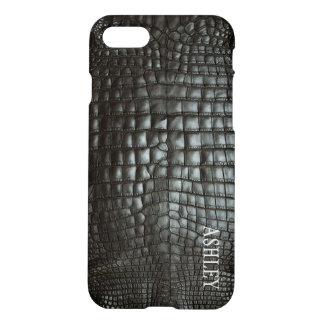 Designer Alligator Skin Dark Grey Matte iPhone 8/7 Case