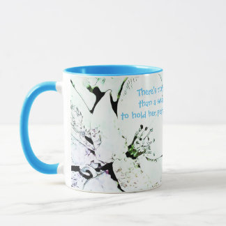Designer Blue 11 oz Combo Mug
