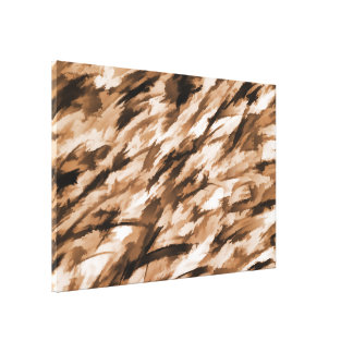 Designer Camo in Beige and Burnt Sienna Canvas Print