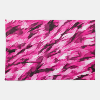 Designer Camo in Hot Pink Hand Towel