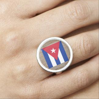 Designer Cuba Flag Box Photo Ring