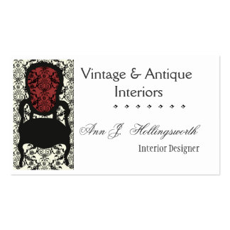 Designer Decorator Victorian  Lace Damask Chair Pack Of Standard Business Cards