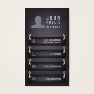 Designer Fabric Style Business Card