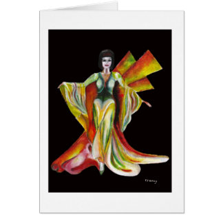 Designer fashion evening gown design card