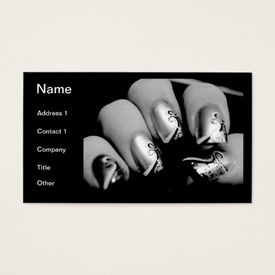 Designer Fingernails Business Card