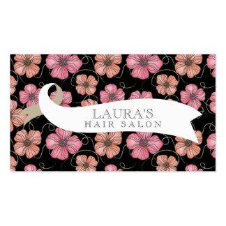 Designer Floral Pattern Hair Salon Business Cards