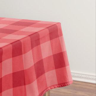 Designer gingham pattern red tablecloth