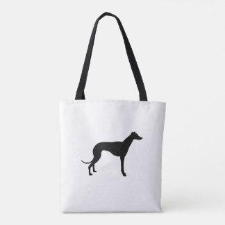 Designer Greyhound Silhouette Tote Bag