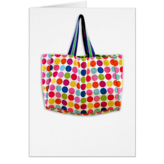 Designer Handbag Fun Dots (blank) Card
