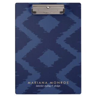 DESIGNER IKAT PATTERN in BLUE Clipboard