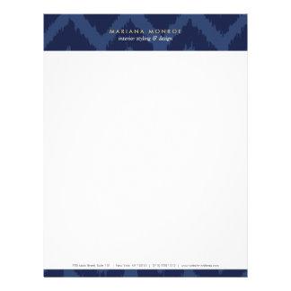 DESIGNER IKAT PATTERN in BLUE Letterhead