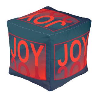 Designer JOY  Pouf - Home Decor-Red/Blue/Teal