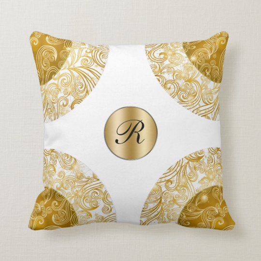 Designer Monogram Throw Pillow
