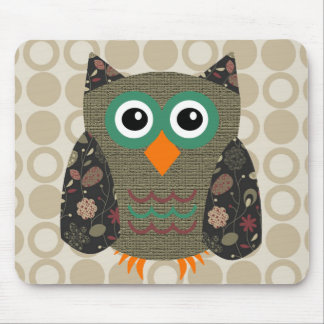 Designer Owl Dusty Mouse Pad