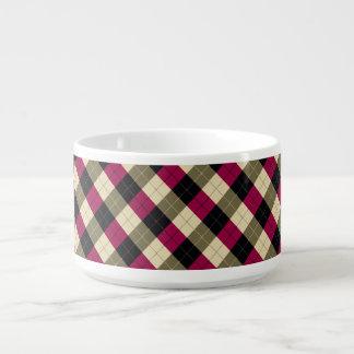 Designer plaid pattern purple, green and Black Bowl