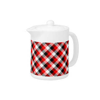 Designer plaid pattern red and Black