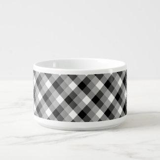 Designer plaid /tartan pattern beige and Black Bowl