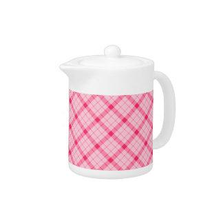 Designer plaid / tartan pattern pink and black
