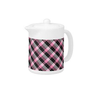 Designer plaid /tartan pattern pink and Black