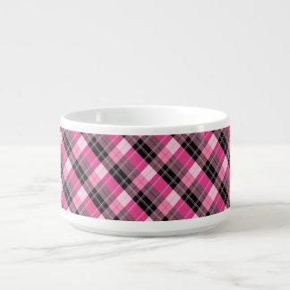 Designer plaid /tartan pattern pink and Black Bowl