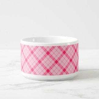 Designer plaid / tartan pattern pink and black bowl