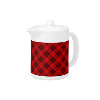 Designer plaid / tartan pattern red and black