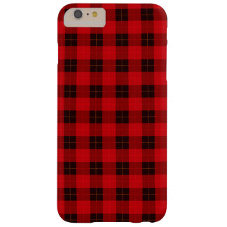 Designer plaid / tartan pattern red and black barely there iPhone 6 plus case