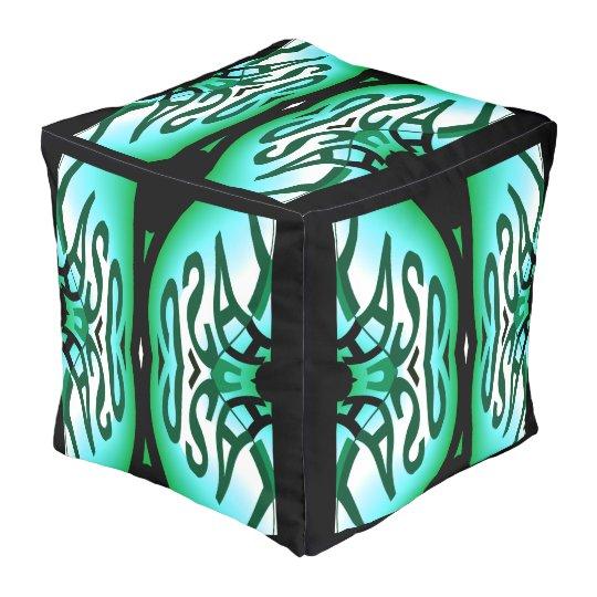 Designer Pouf-Home Decor - Blue/Green/Black/White Pouf
