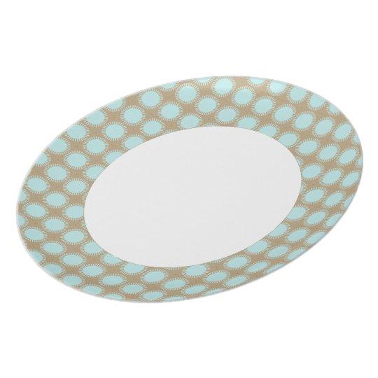 Designer-Retro-Dots-Aqua-Beige-Modern-Everyday Plate