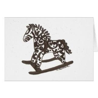 Designer rocking horse card