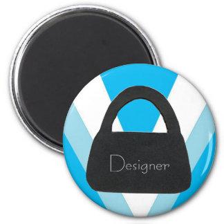 Designer Satchel 2 Inch Round Magnet