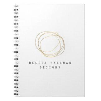 Designer Scribble Logo in Gold Notebook