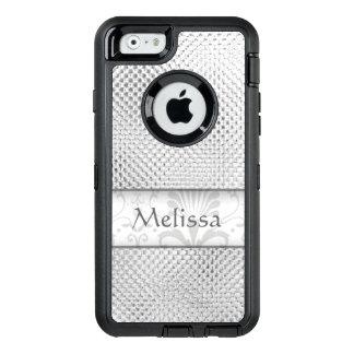 Designer Silver Metallic Pattern Personalized OtterBox iPhone 6/6s Case