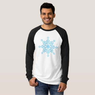 Designer Snowflake Christmas Tee (Blue Flake)