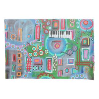 """Designer Standard Pillow Cases """"Music"""""""