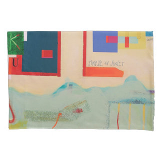 "Designer Standard Pillow Cases ""Sunset"""