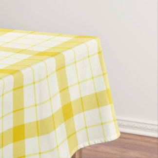 Designer tartan / plaid pattern yellow table cloth tablecloth