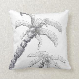 Designer Tropical Palm Tree Throw Pillow by Yotigo
