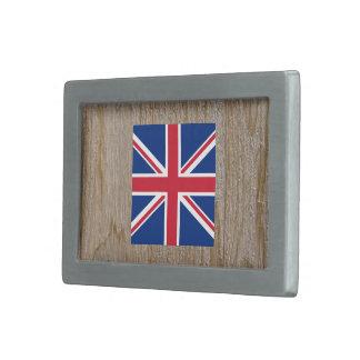 Designer United Kingdom Flag Box Belt Buckles