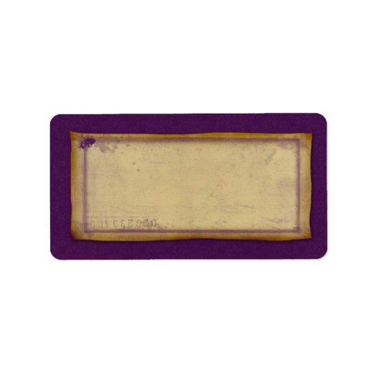 Designer Vintage Grunge Mailing Avery Label