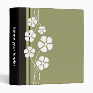 Designer White Flowererd Binders